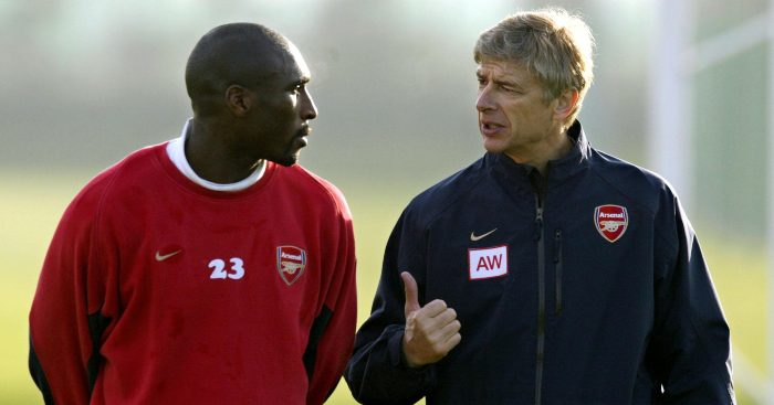 Sol Campbell Arsene Wenger Arsenal