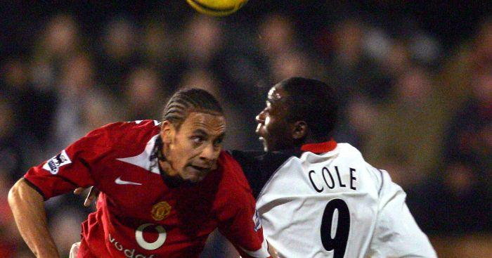 Andy Cole Rio Ferdinand Man Utd