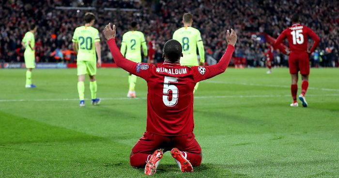 Liverpool to decide on 'Wijnaldum replacement in April' thumbnail
