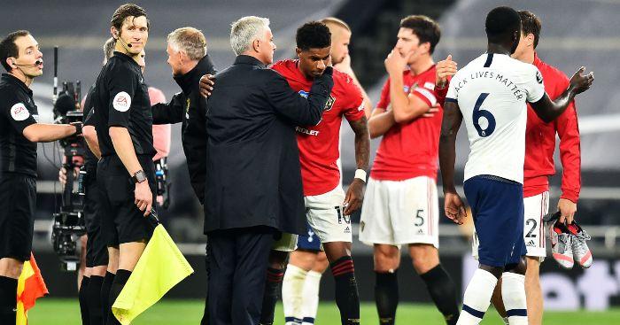 Jose Mourinho Marcus Rashford Man Utd Tottenham