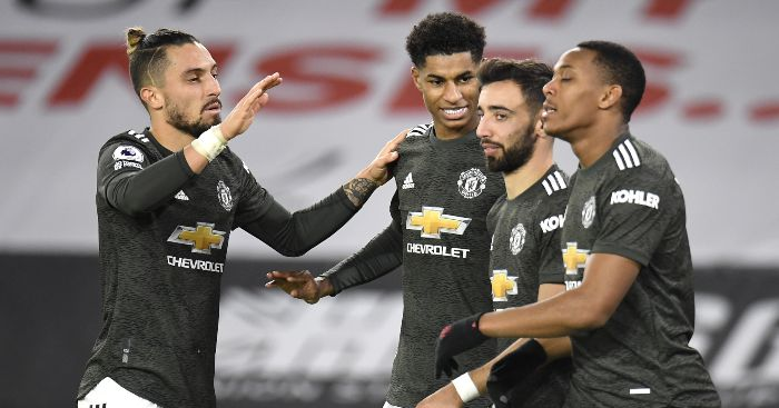 Rashford Martial Fernandes Telles Man Utd