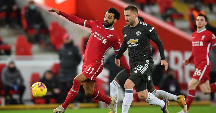 Mo Salah Luke Shaw Liverpool Man Utd