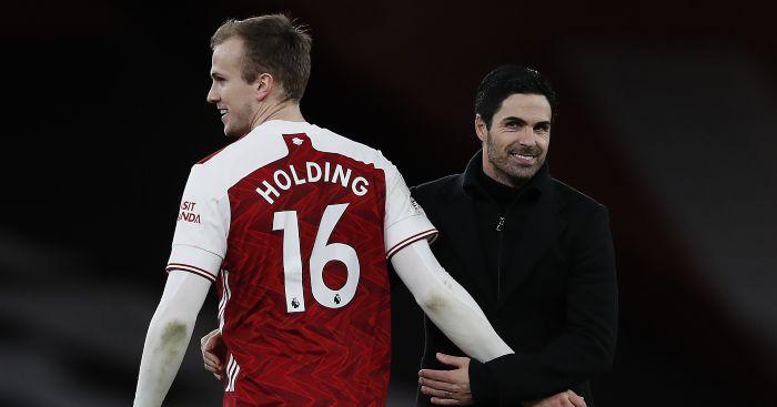 Mikel Arteta Rob Holding Arsenal