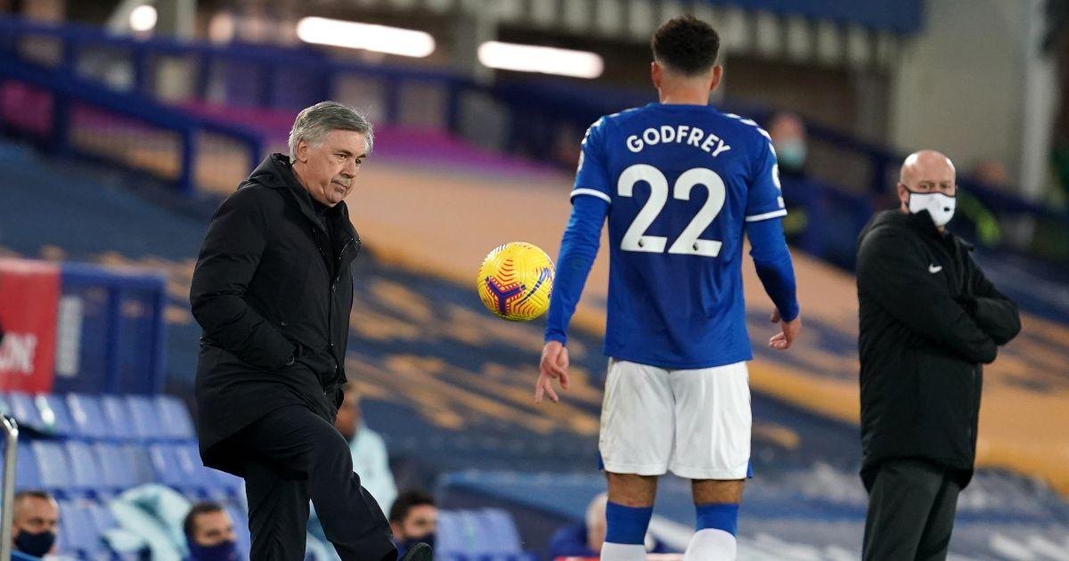 Carlo Ancelotti Ben Godfrey Everton