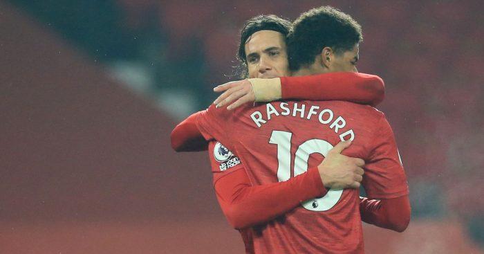 Edinson Cavani Marcus Rashford Man Utd