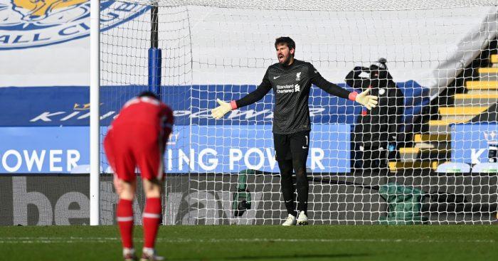 Klopp Leicester Liverpool Alisson