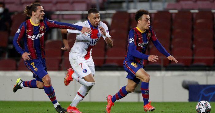 Antoine Griezmann Kylian Mbappe Barcelona PSG