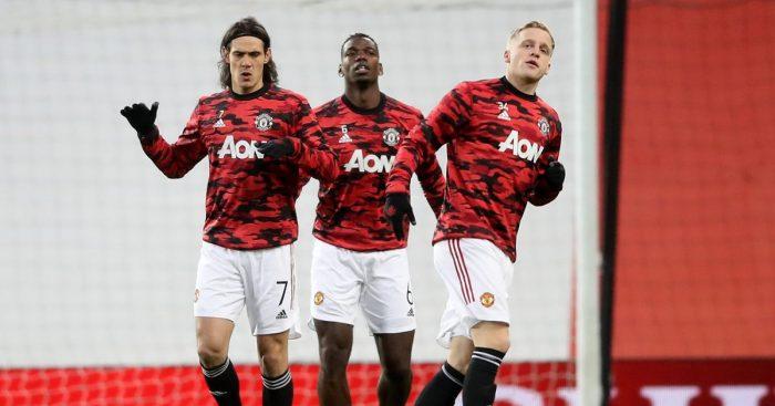 Edinson Cavani Donny van de Beek Man Utd