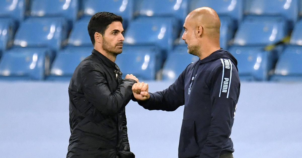 Mikel Arteta Arsenal Pep Guardiola Manchester City