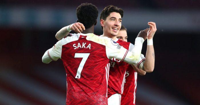 Hector Bellerin Bukayo Saka Arsenal