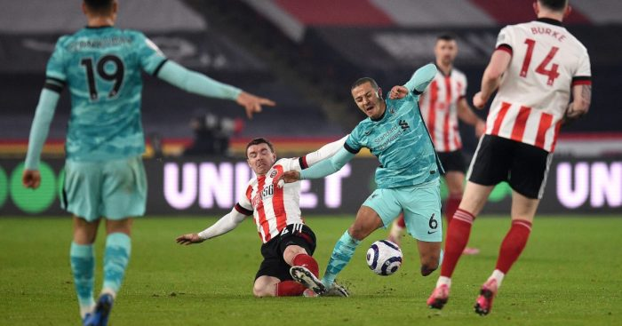 Thiago Alcantara Liverpool Sheffield United