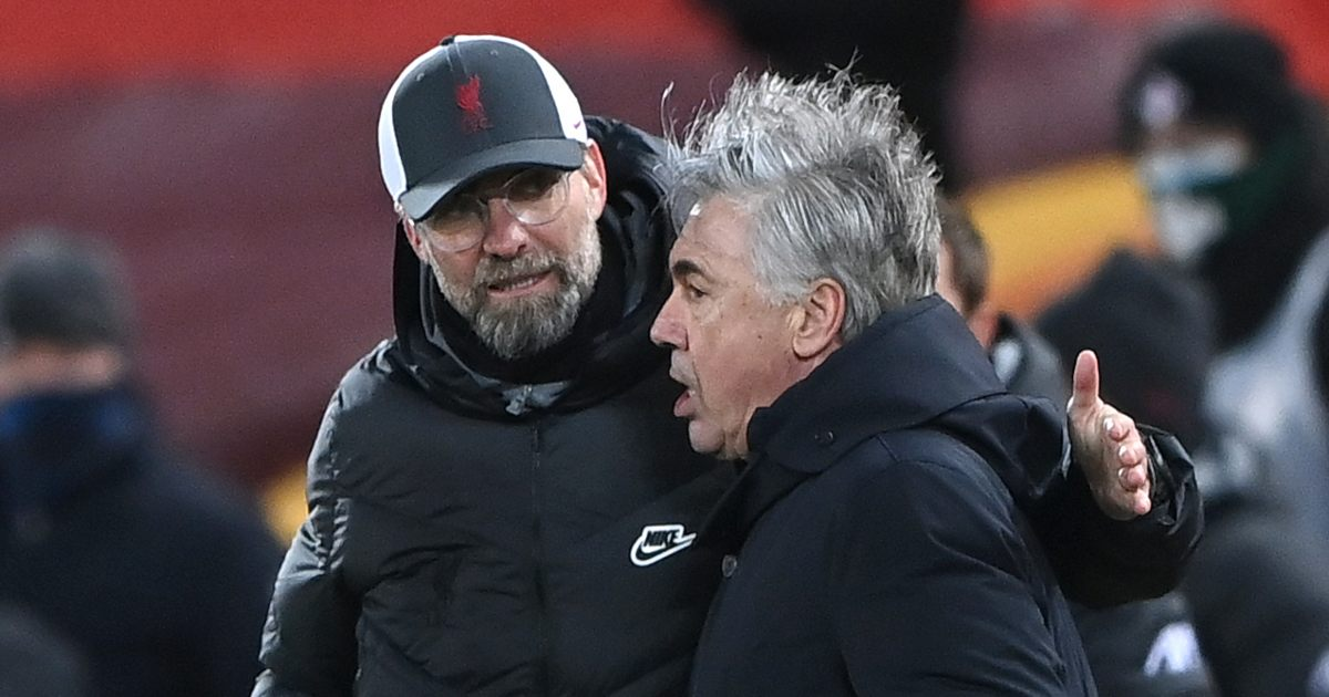 Jurgen Klopp Liverpool Carlo Ancelotti Everton