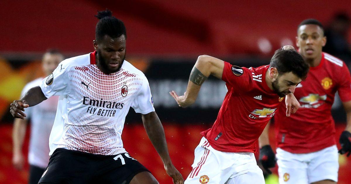 Franck Kessie Bruno Fernandes Manchester United v Milan