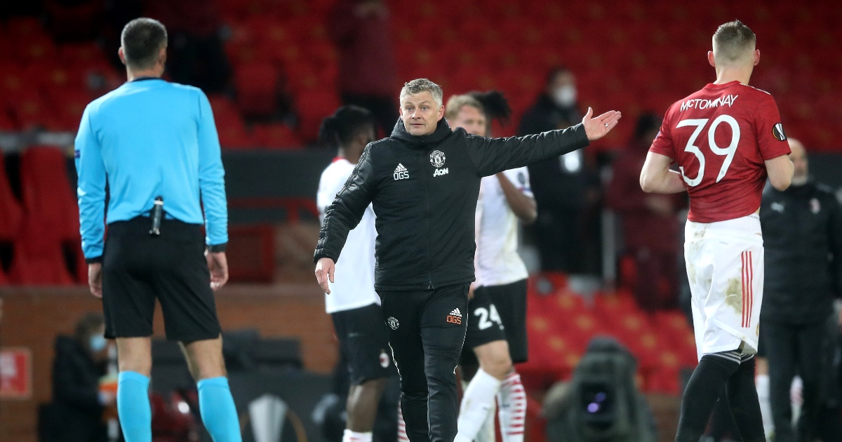 Solskjaer: Man Utd were 'long way off it' in AC Milan draw thumbnail