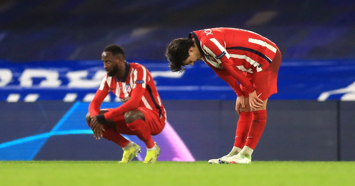 Atletico Madrid players after defeat to Chelsea
