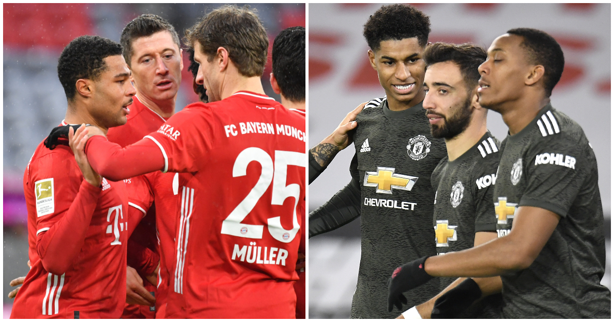 Bayern Munich and Man Utd goalscoring trios
