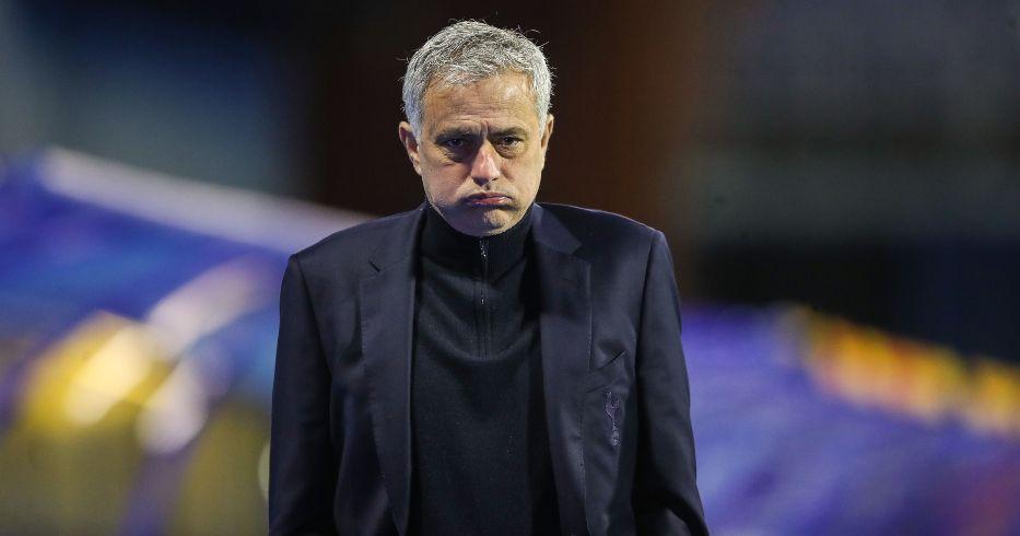 Jose Mourinho reacts as Tottenham lose in the Europa League