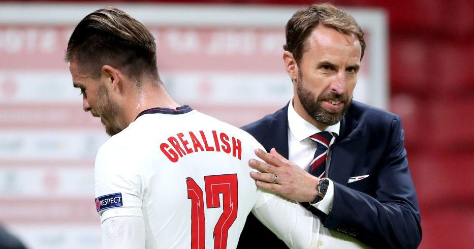 Gareth Southgate congratulates England attacker Jack Grealish