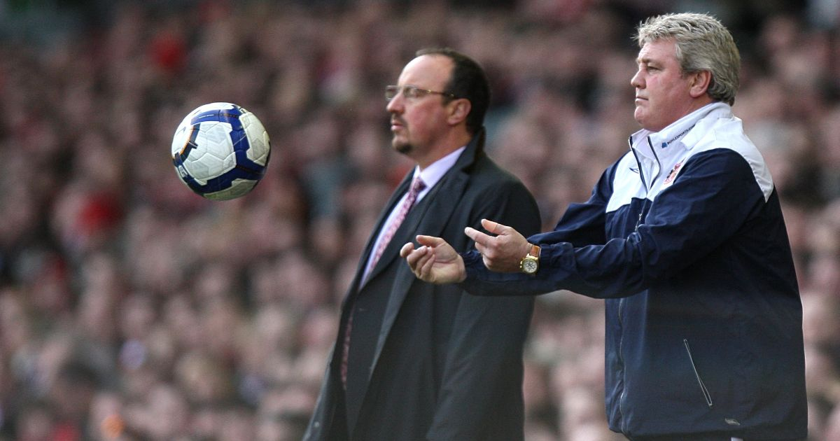 Steve Bruce and Rafael Benitez