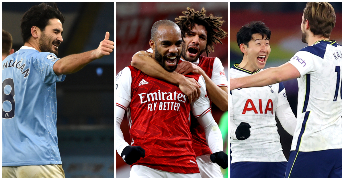 Gundogan Lacazette Son Kane Premier League top scorers ranked by shot conversion