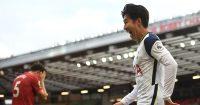 Son Heung-min celebrates scoring