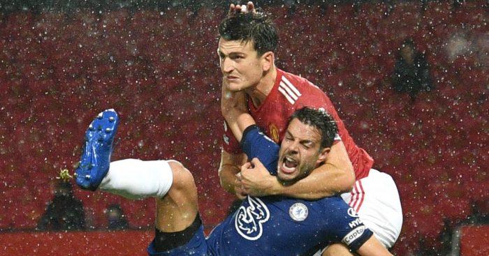 Harry Maguire Cesar Azpilicueta Man Utd Chelsea VAR