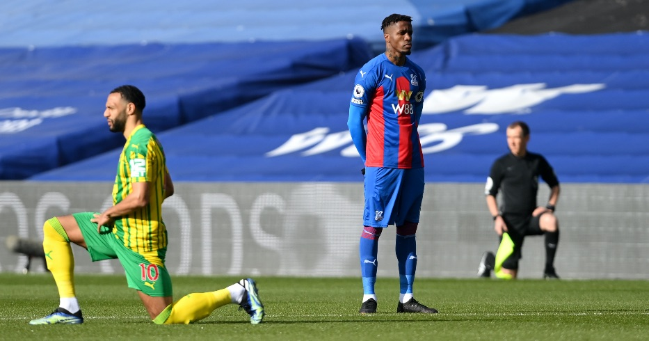 Wilfried Zaha stands for BLM