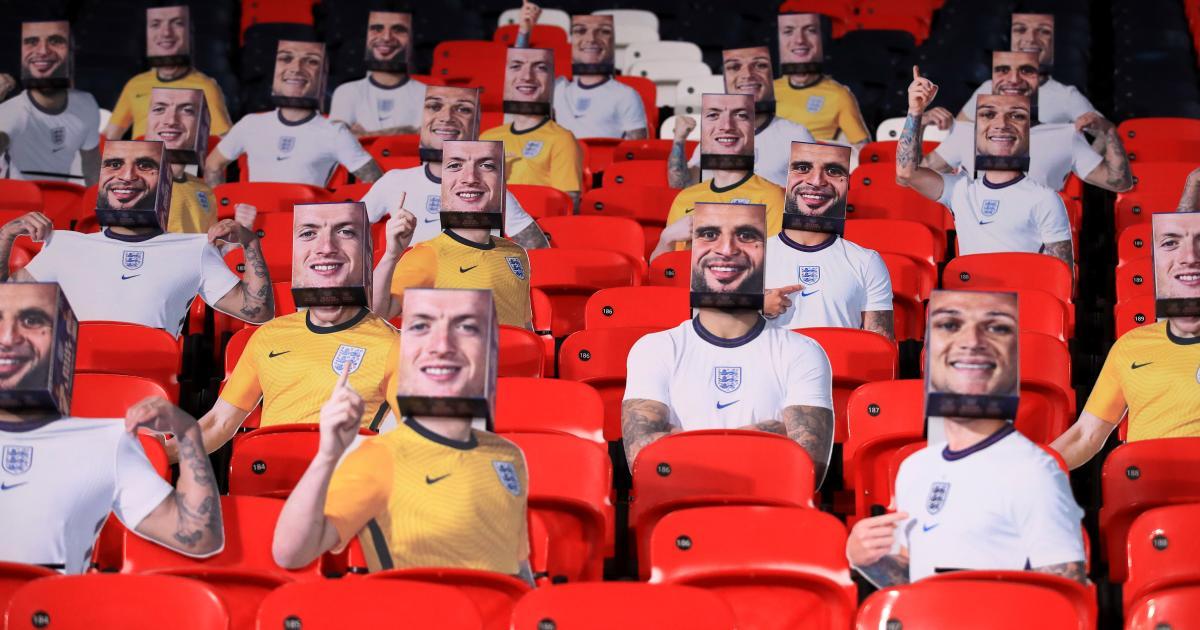 England player cutouts v San Marino