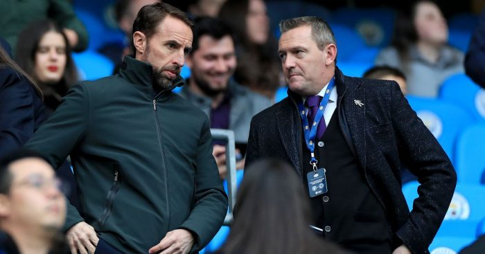 England manager Gareth Southgate (left) and England U21 manager Aidy Boothroyd