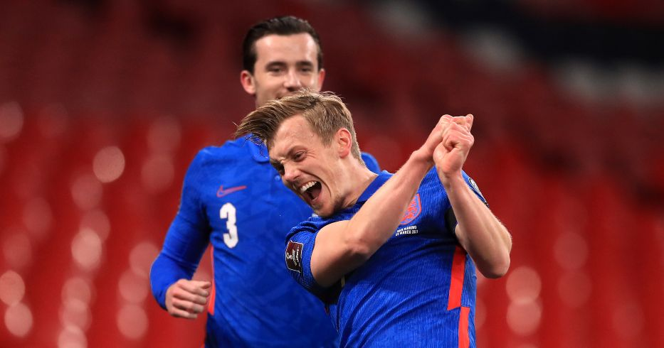 James Ward-Prowse celebrates his first England goal