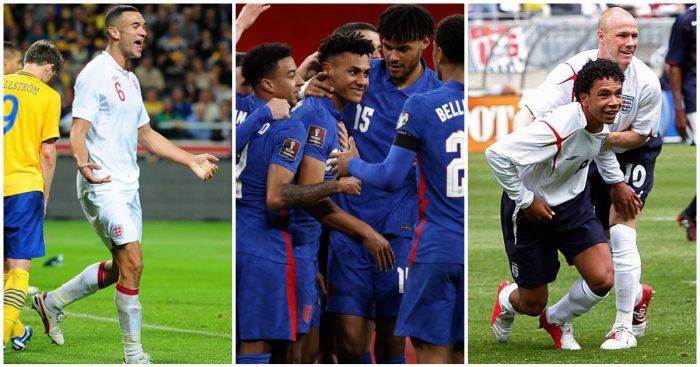 England debut goals Caulker Watkins Richardson