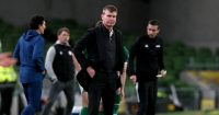 Stephen Kenny reacts as Ireland lose