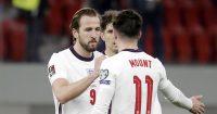 England goalscorers Harry Kane and Mason Mount