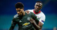 Ibrahima Konate RB Leipzig Marcus Rashford Man Utd