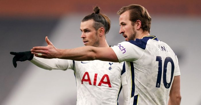 Gareth Bale and Harry Kane point