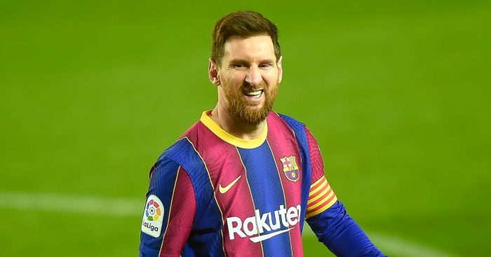 Lionel Messi of FC Barcelona against SD Huesca