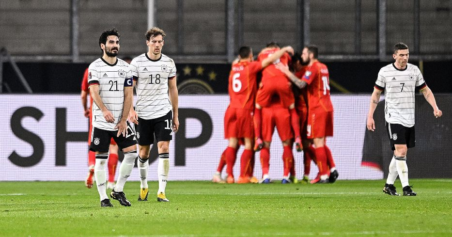 Germany players react