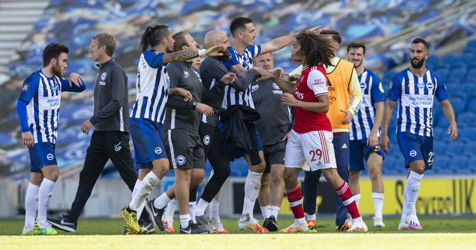 Guendouzi fights Brighton Arsenal