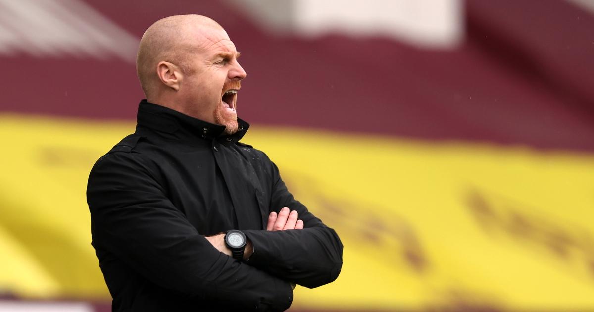 Sean Dyche Burnley boss shouting