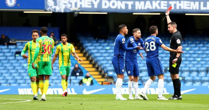 Thiago-Silva-Jorginho-red-Card-Chelsea