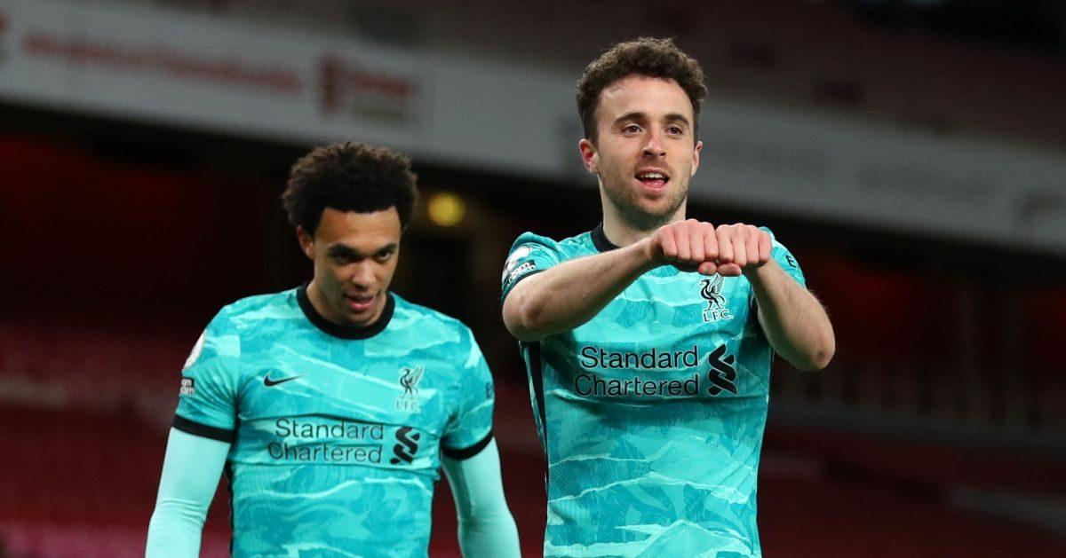 Diogo Jota celebrates his goal