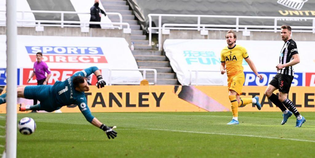 Harry Kane goal Newcastle Tottenham