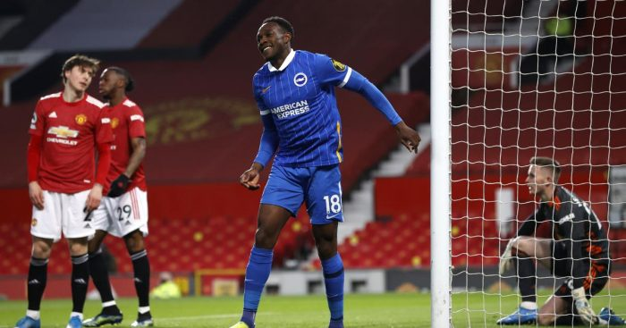 Danny Welbeck scores for Brighton at Manchester United