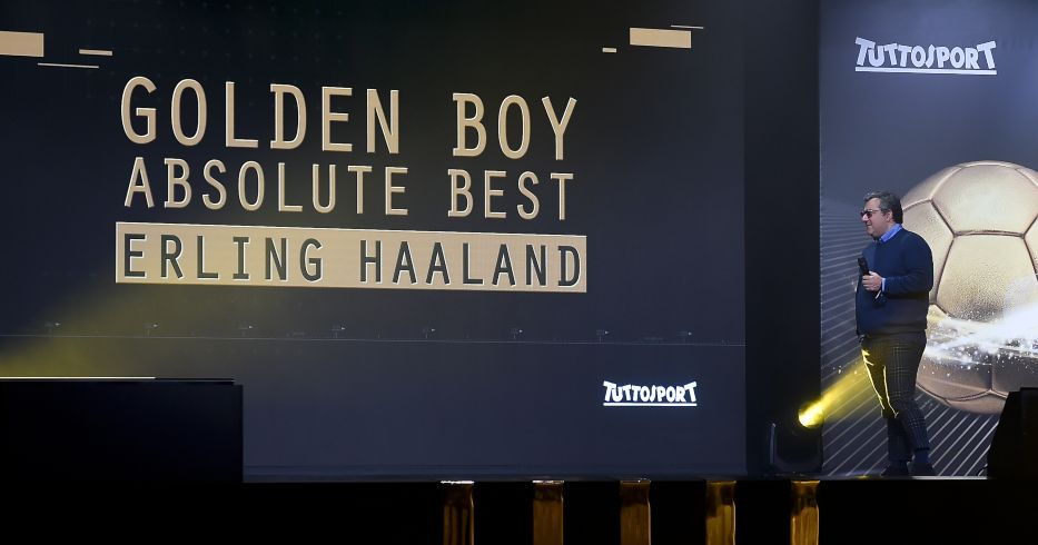 Mino Raiola at the 2020 Golden Boy awards