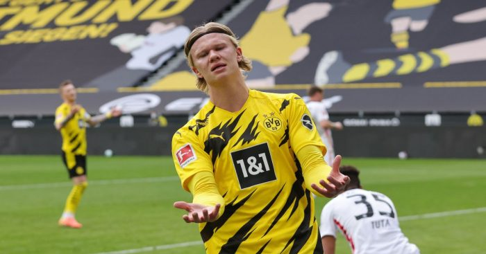 Erling Haaland looks dejected