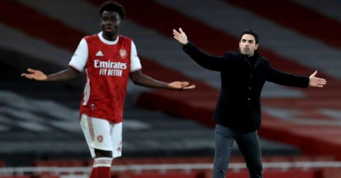Mikel Arteta Bukayo Saka Arsenal