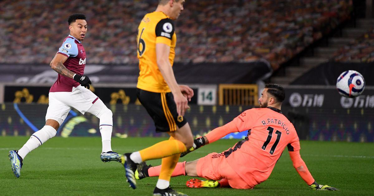 Jesse Lingard scores for West Ham at Wolves