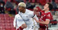 Wesley Fofana tackles Diogo Jota