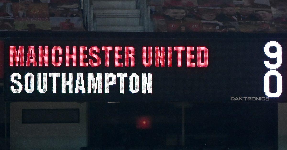 Man-United-Southampton-scoreboard