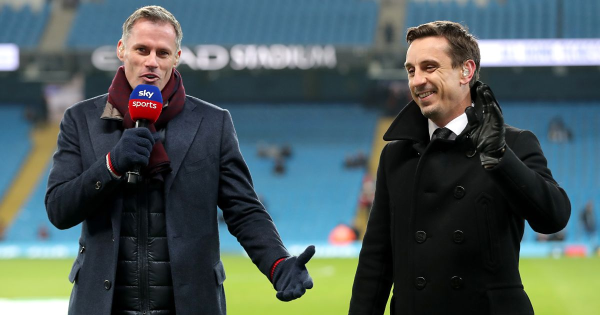 Jamie Carragher Gary Neville Liverpool Manchester United